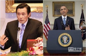 馬英九(左)、歐巴馬(右)。 (本報系資料照片/美聯社資料照片)